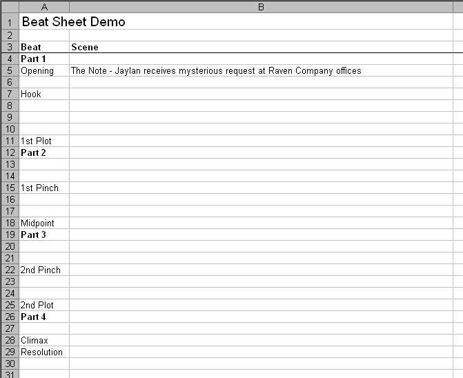 Evolution Of A Beat Sheet